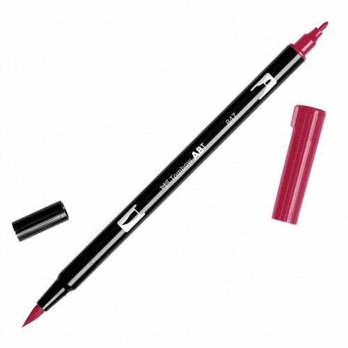 Rotulador Tombow dual pen Crimson.