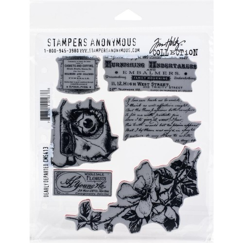 Kit de sellos de Tim Holtz - Dearly Departed