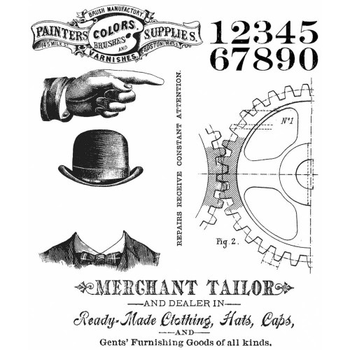 Kit de sellos de Tim Holtz - Dapper