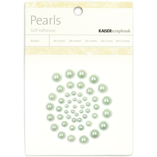 KAISERCRAFT-Self-Adhesive Pearls. Ice Green