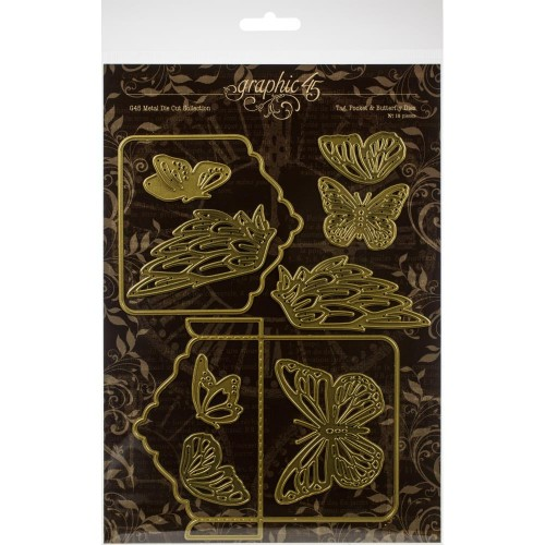 Troqueles Graphic 45 - Tag, Pocket & Butterfly