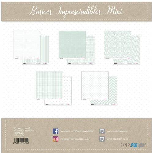 Kit 30 x 30 Papers for you - Básicos imprescindibles Mint