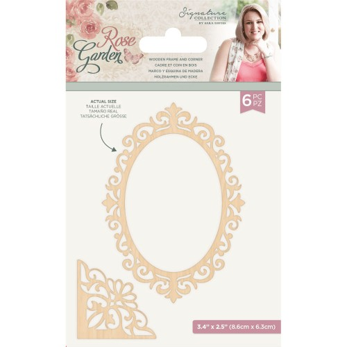 Kit de 6 maderitas Rose Garden Crafter's Companion