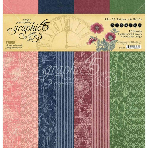 Graphic 45 Blossom 30x30 - Patterns & Solids