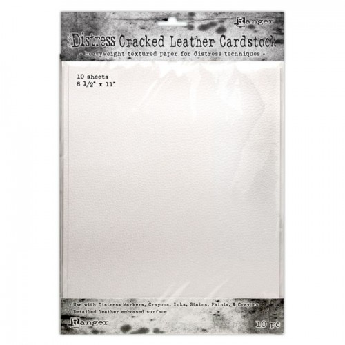 Kit de cartulinas Distress Cracked Leather by Tim Holtz - 27.95 x 21.60 cm.