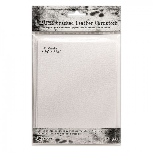 Kit de cartulinas Distress Cracked Leather by Tim Holtz