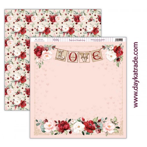 "Papel scrap Dayka colección ""Love makes us fly"" SCP-412"