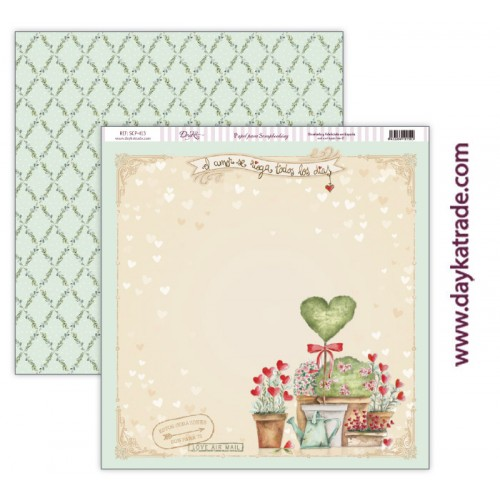 "Papel scrap Dayka colección ""Love makes us fly"" SCP-413"