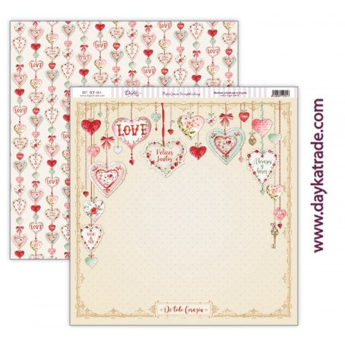 "Papel scrap Dayka colección ""Love makes us fly"" SCP-414"