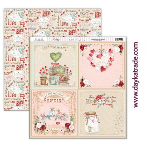 "Papel scrap Dayka colección ""Love makes us fly"" SCP-415"