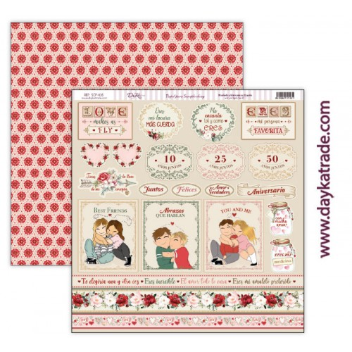 "Papel scrap Dayka colección ""Love makes us fly"" SCP-416"