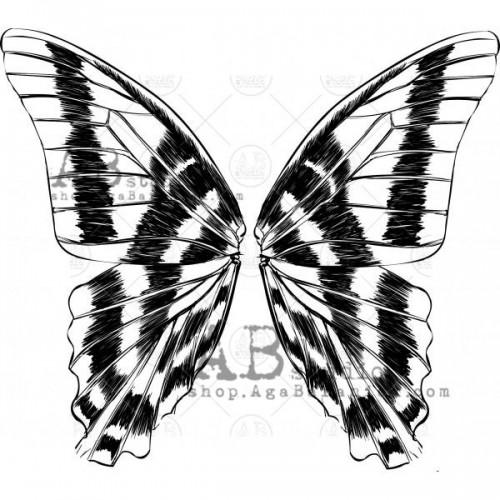 "Sello de caucho ID-905 ""butterfly wings"" - ABstudio"