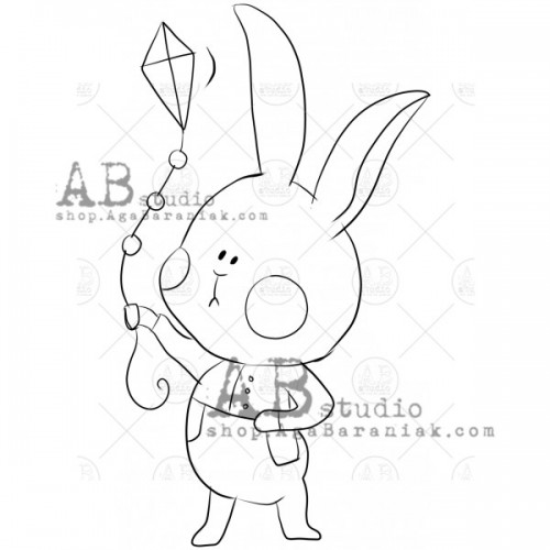"Sello de caucho ID-1014 ""cute hare"" - ABstudio"