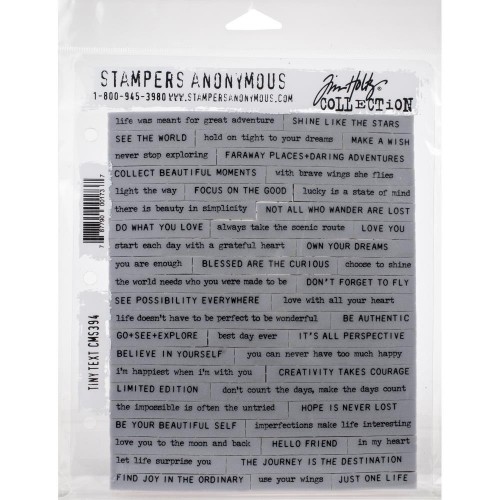 Kit de sellos de Tim Holtz - Tiny Text