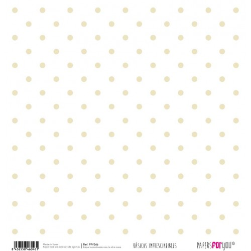 Papel Scrap Vichy Beige y lunares - Papers For You
