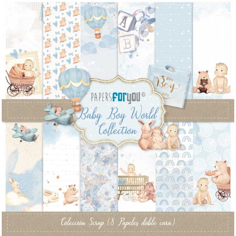 Kit 30 x 30 Papers for you - Baby Boy World