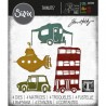 Set 4 troqueles Sizzix THINLITS Wacky transport by Tim Holtz