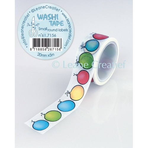 Washi Tape Small Round Labels