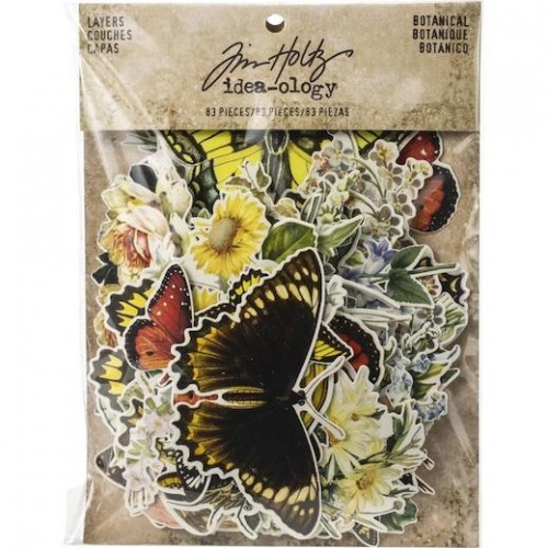 Tim Holtz Idea-Ology Layers Die-Cuts Botanical