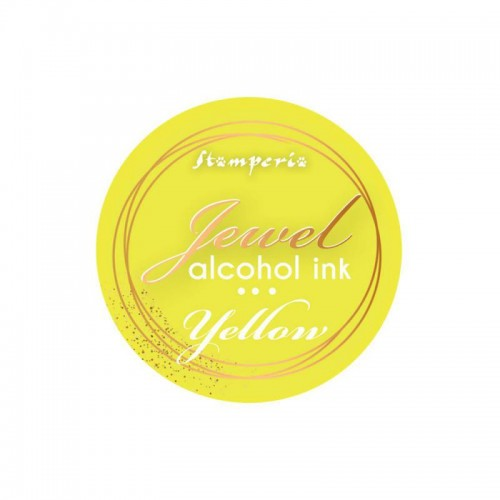 Jewel Alcohol Ink Stamperia - Yellow