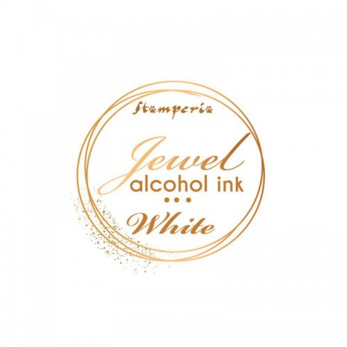 Jewel Alcohol Ink Stamperia - White