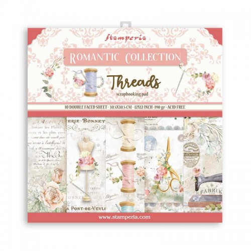 Kit de papeles de Scrapbooking Stamperia - Romantic Threads