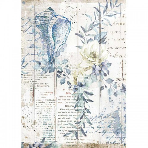 Papel de arroz A4 Romantic Sea Dream Shells - Stamperia