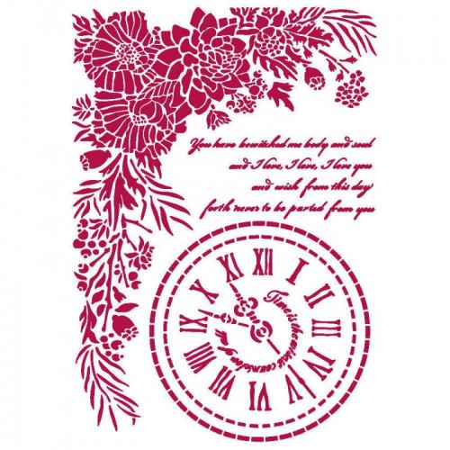 STENCIL G - Romantic Journal Clock - Stamperia