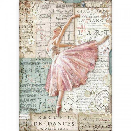 Papel de arroz A4 Passion, Dancer - Stamperia