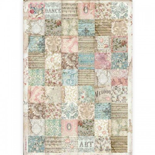 Papel de arroz DIN A-3 Stamperia - Passion Patchwork