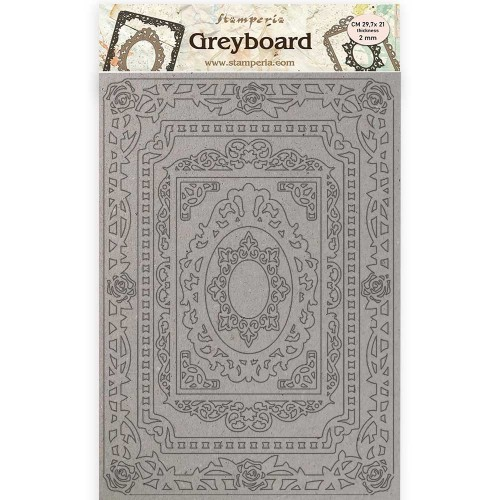 A4 Greyboard 2 mm. Lace & Roses, Atelier Des Arts Frames