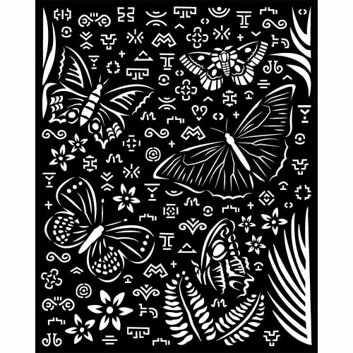 Stencil Stamperia Mix Media Art 25 x 20 cm. - Amazonia Butterflies