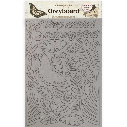 A4 Greyboard 2 mm. Amazonia Butterflies Stamperia