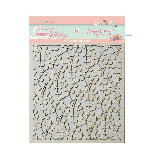 Stamperia Decorative chips - Circle of Love Texture