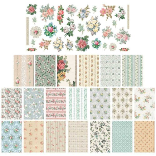 Idea-ology Tim Holtz Scraps Wallpaper Kit de papeles