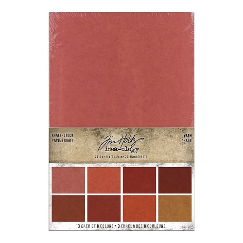 Kit de papeles Idea-ology Tim Holtz Kraft-Stock Stack Warm