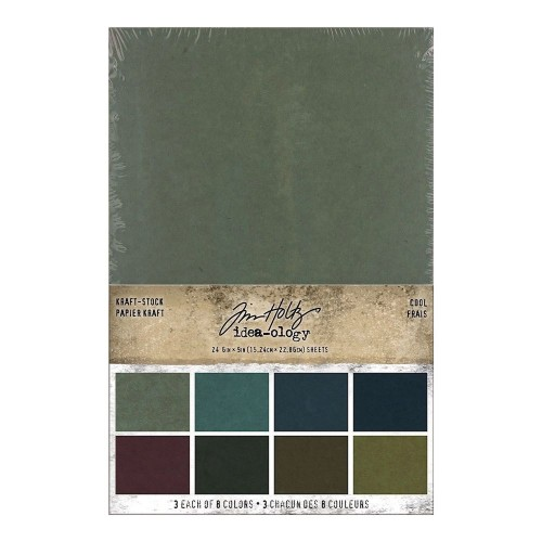 Kit de papeles Idea-ology Tim Holtz Kraft-Stock Stack Cool