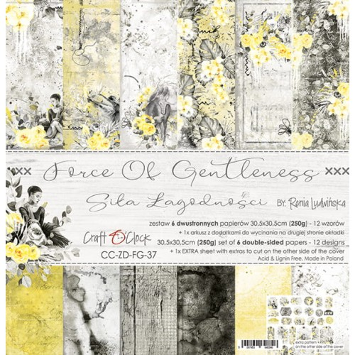 "Craft O'Clock Kit de papeles ""Force of Gentleness"" 30 x 30 cm."
