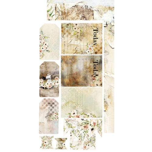 "Craft O'Clock Kit de papeles Junk Journal ""Blooming Retreat"" 15.5 x 30.5 cm."