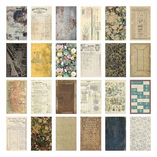 Idea-ology Tim Holtz Kit de papeles Backdrops Volume 2