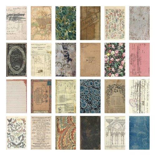 Idea-ology Tim Holtz Kit de papeles Backdrops Volume 1