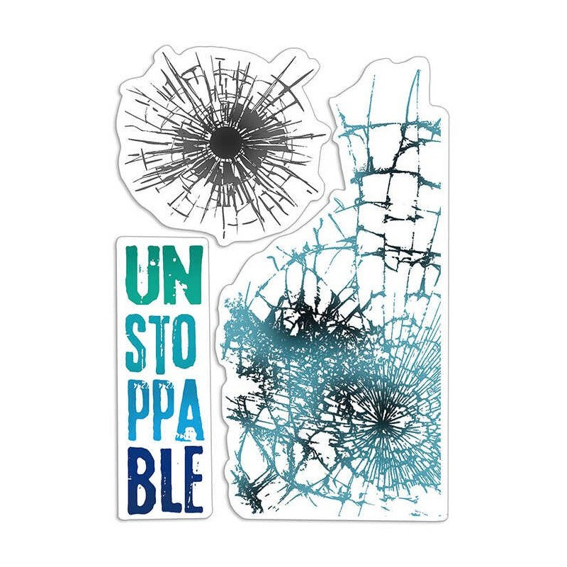 "CLEAR STAMP SET 4""X6"" UNSTOPPABLE"