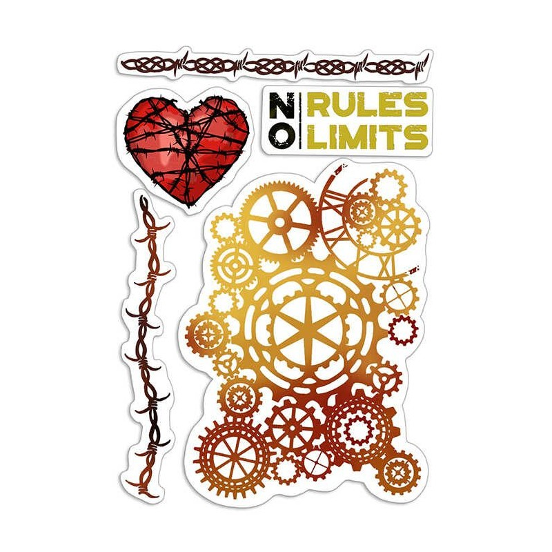 """CLEAR STAMP SET 4""""X6"""" NO RULES NO LIMITS"""