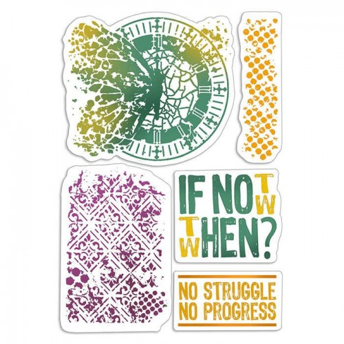 """CLEAR STAMP SET 4""""X6"""" IF NOT NOW WHEN"""