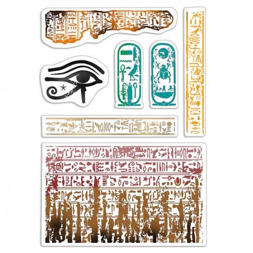 "CLEAR STAMP SET 4""X6"" WALK LIKE AN EGYPTIAN"