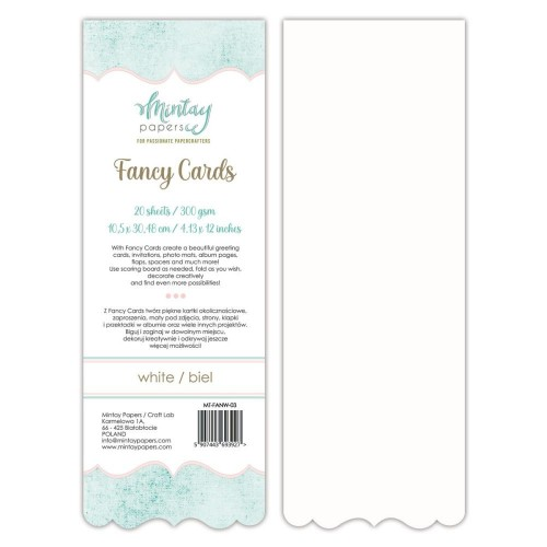 Mintay Papers Fancy Cards White 03