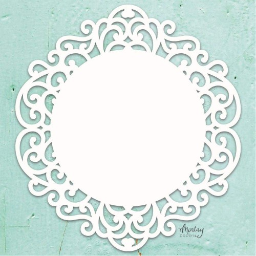 Mintay Papers Chipboard - Fancy Circle