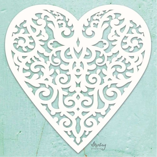 Mintay Papers Chipboard - Filigree Heart