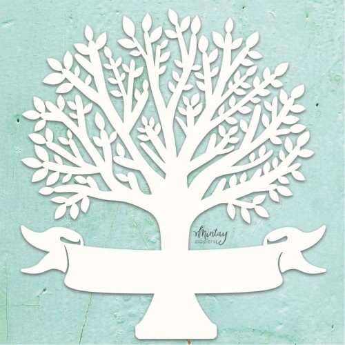 Mintay Papers Chipboard - Family Tree