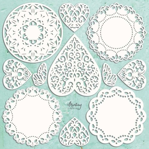 Mintay Papers Chipboard - Doilies set 11 pzs.